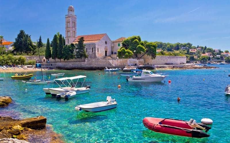 La isla de Hvar en Croacia