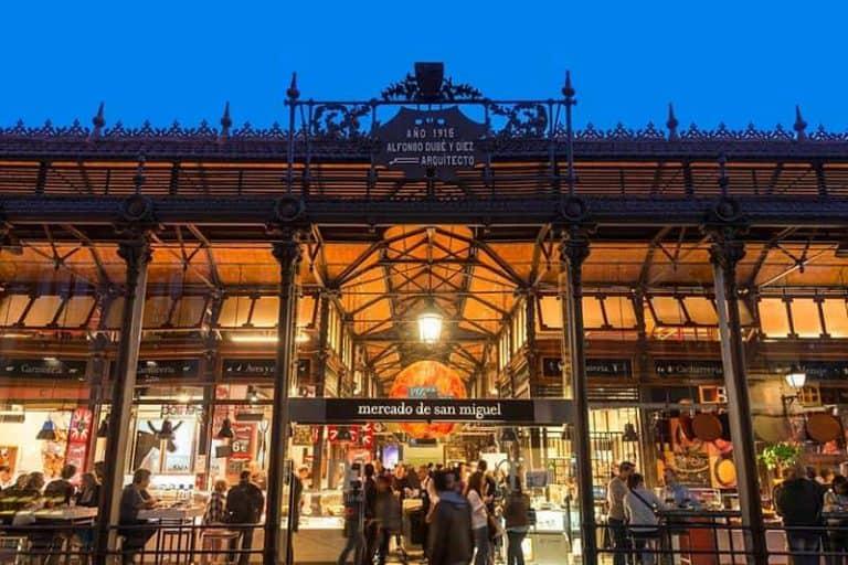 Entrada del mercado de San Miguel en Madrid