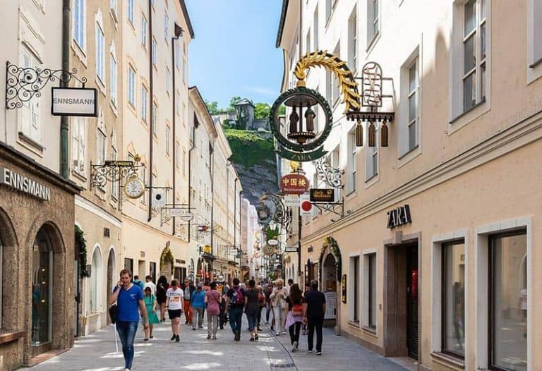 Calle Getridegasse, que ver en Salzburgo
