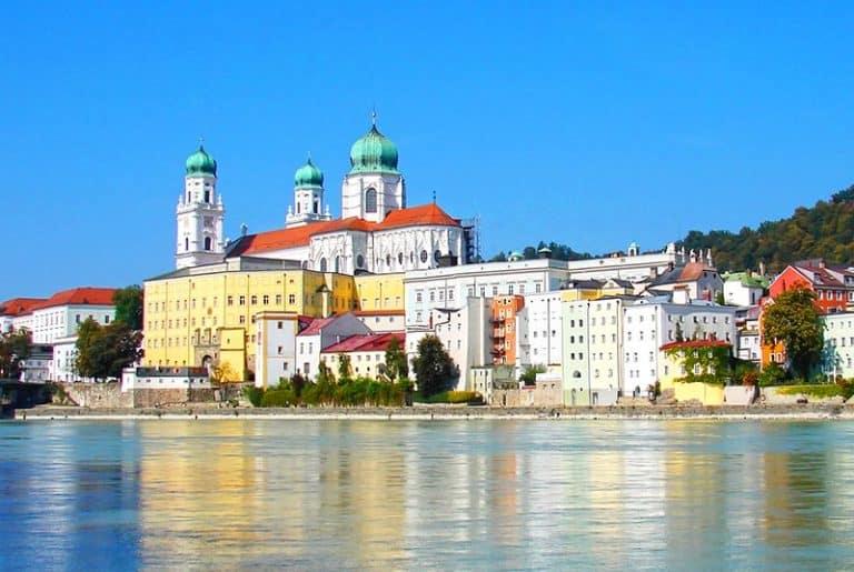Ciudad de Passau en Alemania