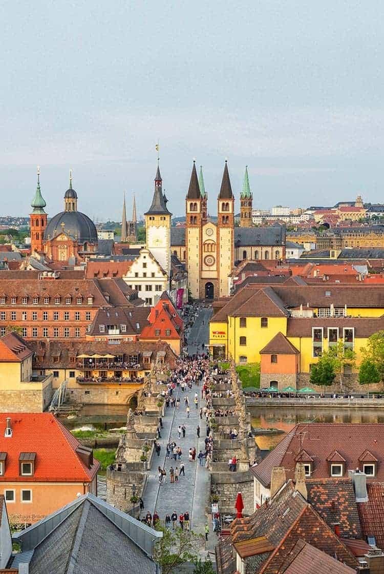 Ciudad de Wurzburg en Alemania, Pueblos de Baviera