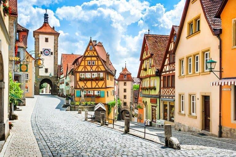Uno de los pueblos medievales de Alemania, Rothenburg