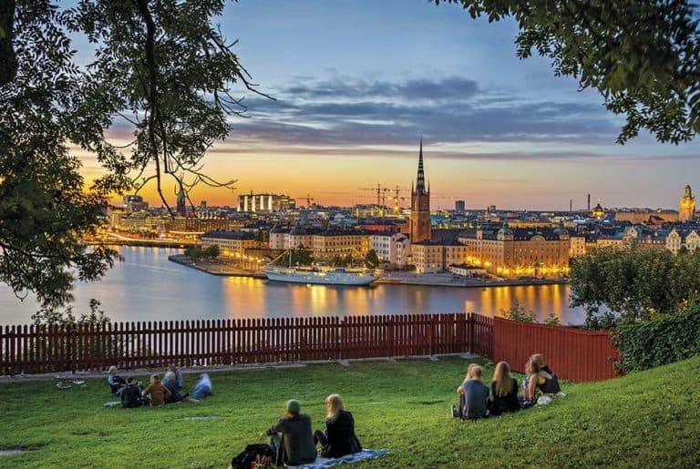 Vistas a la isla de Estocolmo